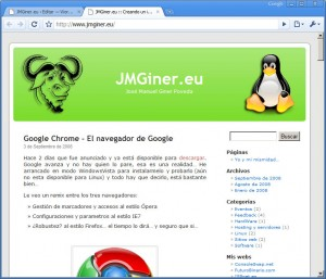 JMGiner.eu Chrome