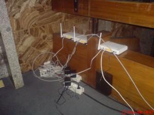 Los routers Xavi de Telefónica, 10 de ellos para cubrir las necesidades de más de 1.000 asistentes...