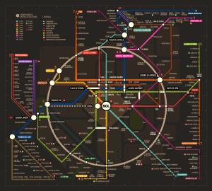 Plano/Mapa del metro de Madrid