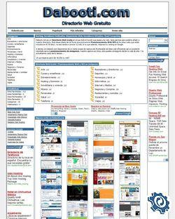 Captura primera versión Dabooti.com